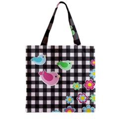 Cute Spring Pattern Zipper Grocery Tote Bag by Valentinaart