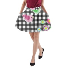 Cute Spring Pattern A Line Pocket Skirt by Valentinaart