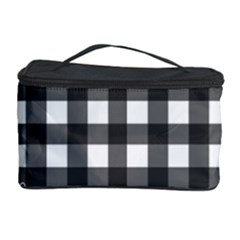 Ladybugs Plaid Pattern Cosmetic Storage Case by Valentinaart