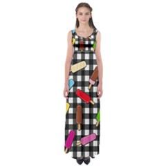 Ice Cream Kingdom  Empire Waist Maxi Dress