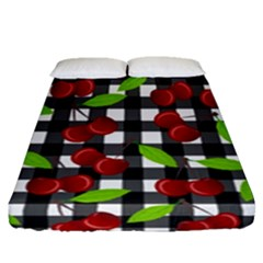 Cherry Kingdom  Fitted Sheet (queen Size) by Valentinaart
