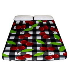 Cherry Kingdom  Fitted Sheet (california King Size) by Valentinaart