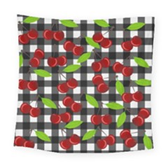 Cherry Kingdom  Square Tapestry (large) by Valentinaart