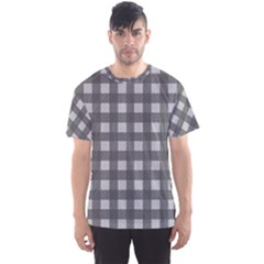 Gray Plaid Pattern Men s Sport Mesh Tee