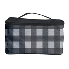 Gray Plaid Pattern Cosmetic Storage Case by Valentinaart