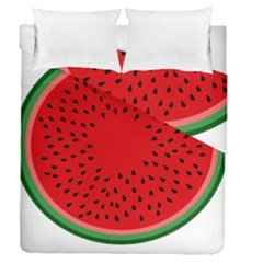 Watermelon Duvet Cover Double Side (queen Size) by Valentinaart