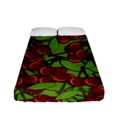 Cherry Jammy Pattern Fitted Sheet (full/ Double Size) by Valentinaart