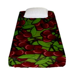 Cherry Jammy Pattern Fitted Sheet (single Size) by Valentinaart