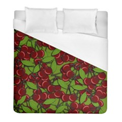 Cherry Jammy Pattern Duvet Cover (full/ Double Size) by Valentinaart