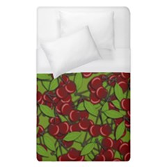 Cherry Jammy Pattern Duvet Cover (single Size) by Valentinaart