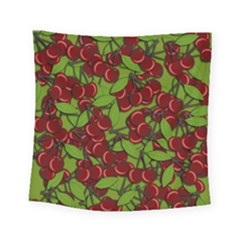 Cherry Jammy Pattern Square Tapestry (small) by Valentinaart