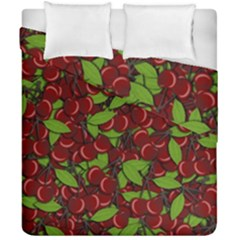 Cherry Pattern Duvet Cover Double Side (california King Size) by Valentinaart