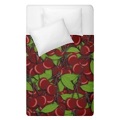 Cherry Pattern Duvet Cover Double Side (single Size) by Valentinaart