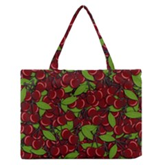 Cherry Pattern Medium Zipper Tote Bag by Valentinaart