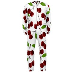 Cherry Pattern Onepiece Jumpsuit (men)  by Valentinaart