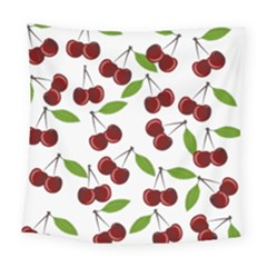 Cherry Pattern Square Tapestry (large) by Valentinaart