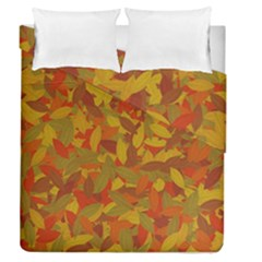 Orange Autumn Duvet Cover Double Side (queen Size) by Valentinaart