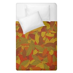 Orange Autumn Duvet Cover Double Side (single Size) by Valentinaart
