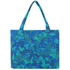 Blue Autumn Mini Tote Bag by Valentinaart