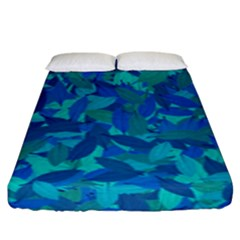 Blue Autumn Fitted Sheet (king Size) by Valentinaart