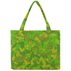 Green Autumn Mini Tote Bag by Valentinaart