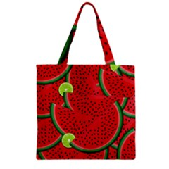 Watermelon Slices Zipper Grocery Tote Bag by Valentinaart