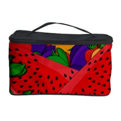 Summer Fruits Cosmetic Storage Case by Valentinaart