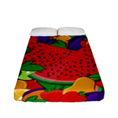 Summer Fruits Fitted Sheet (full/ Double Size) by Valentinaart