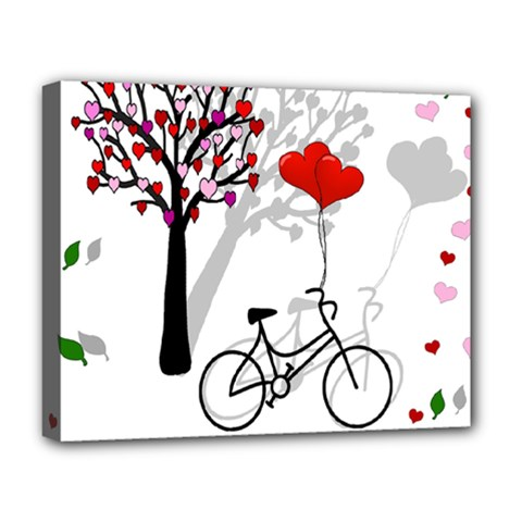 Love Design Deluxe Canvas 20  X 16   by Valentinaart