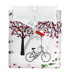Love Design Duvet Cover Double Side (full/ Double Size) by Valentinaart