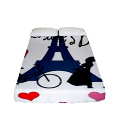 Valentine s Day   Paris Fitted Sheet (full/ Double Size) by Valentinaart