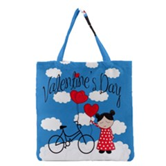 Girls Daydream Grocery Tote Bag by Valentinaart