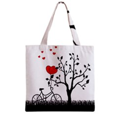 Love Hill Grocery Tote Bag by Valentinaart