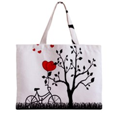 Love Hill Zipper Mini Tote Bag by Valentinaart