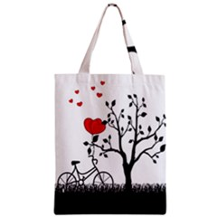 Love Hill Zipper Classic Tote Bag by Valentinaart