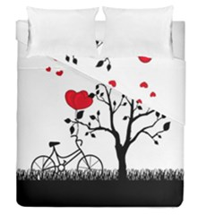 Love Hill Duvet Cover Double Side (queen Size) by Valentinaart
