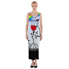 Love Hill   Rainbow Fitted Maxi Dress by Valentinaart