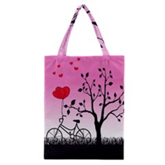 Love Sunrise Classic Tote Bag by Valentinaart