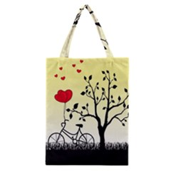 Romantic Sunrise Classic Tote Bag by Valentinaart