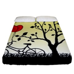 Romantic Sunrise Fitted Sheet (king Size) by Valentinaart