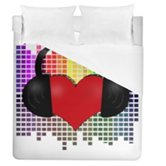 Music Duvet Cover (queen Size) by Valentinaart