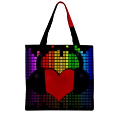Love Music Zipper Grocery Tote Bag by Valentinaart