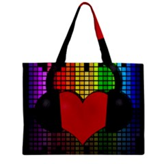 Love Music Zipper Mini Tote Bag by Valentinaart
