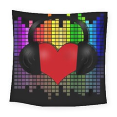 Love Music Square Tapestry (large) by Valentinaart