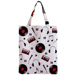 Music Pattern Zipper Classic Tote Bag by Valentinaart