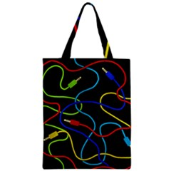Audio Cables  Zipper Classic Tote Bag by Valentinaart
