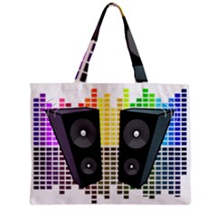 Loudspeakers   Transparent Zipper Mini Tote Bag by Valentinaart