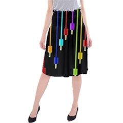 Plug In Midi Beach Skirt by Valentinaart