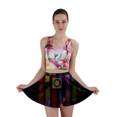 Energy Of The Sound Mini Skirt by Valentinaart