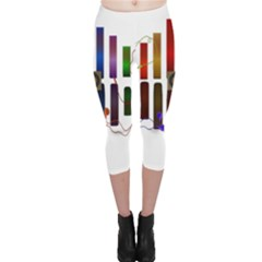 Energy Of The Sound Capri Leggings  by Valentinaart